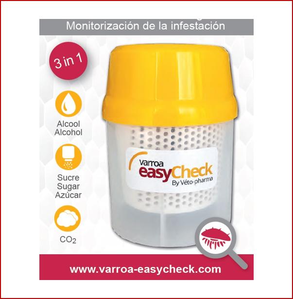 VARROA EASY CHECK (VEC): Ahora también disponible para su empleo con azúcar glas y CO2